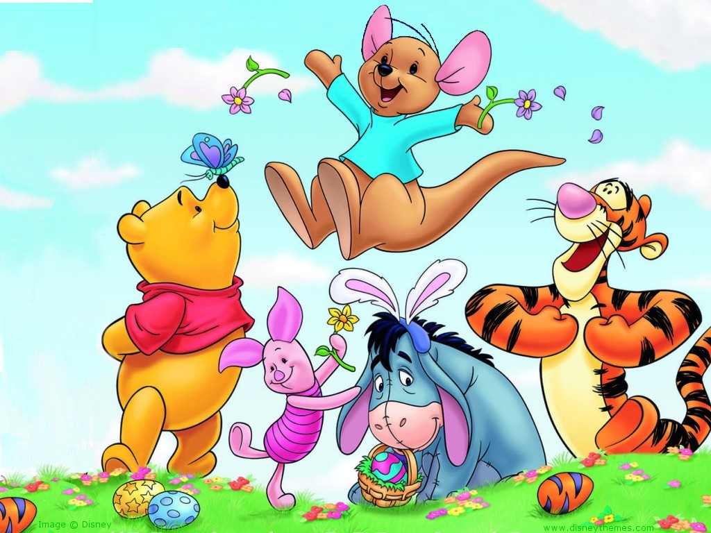 disney winnie the pooh easter wallpaper